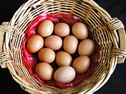 A Basket of Fresh Eggs