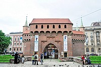 St  Florian's Gate and the Barbican, Krakow, Poland, East Europe