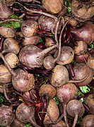 Heap of raw beetroots