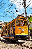 The Santa Teresa Historic Tramway bondinho,Lapa,Rio de Janeiro,Brazil
