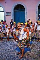 Street carnival, dance group,Pelourinho,Salvador ,Bahia,Brazil