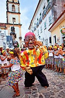 Street carnival, dance group, Pelourinho,Salvador ,Bahia,Brazil