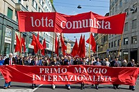 Primo maggio, May 1 event, May day, Milan 2011, Italy