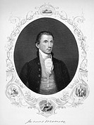 JAMES MONROE (1758-1831).Fifth President of the United States. Steel engraving, American, 1857.
