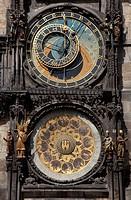 The Astronomical Clock, Prague Town Hall,Czech Republic, Europe