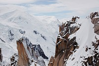 a snowy mountain range, chamonix, france