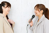 Woman Interviewing Another Woman