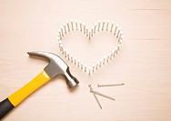 Heart_shape, hammer and nails