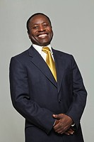 Portrait of a black businessman smiling