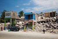 collapsed building after the earthquake, port_au_prince, haiti