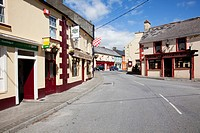 buildings along a street, timoleague, county cork, ireland