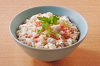 Crab mixed with rice
