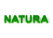 written ´natura´ with grass 3d illustration