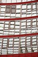 Red and gray windows