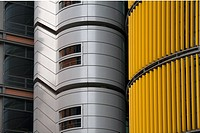 Silver, gold and black skyscraper