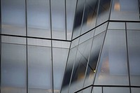 Angled glass windows on a skyscraper