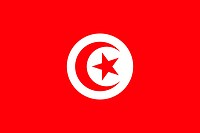 The national flag of Tunisia