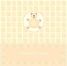 baby greetings card with yellowe bear