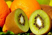 Kiwi and citrus fruits.
