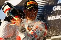 Podium, Lewis Hamilton, Australian Grand Prix, Melbourne, Australia