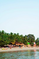 Palolem beach from the sea, Goa