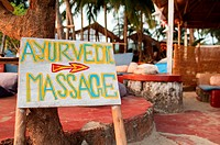 Ayurvedic massage sign, Goa