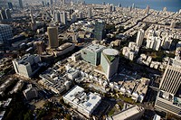 An aerial photo of Tel Aviv citycenter