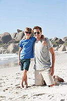 Portrait of father and son 5_6 on beach