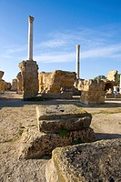 Tunisia, Carthage, roman thermae of Antoninus