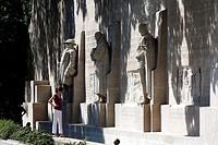Switzerland, Geneva, parc des bastions, statue