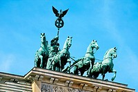 Quadriga, Brandenburger Tor, Berlin, Germany.