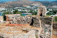 Panorama of Bodrum with Bodrum Castle on foreground, Turkey