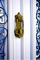 Greece, Dodecanese, Patmos, door handle