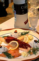 Russia, St Petersburg, sea food