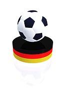 Deutschland _ Fussball auf Podest