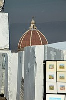 Italy, Tuscany, Florence, Michelangelo square and marble sculpture
