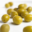 Olives on white background