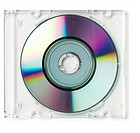 CD boxed on white background