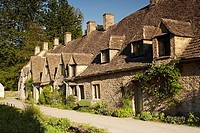 Arlington Row, Bibury, Cotswolds, England, UK