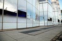 Modern Glass Office Building Facade