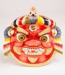 Tibetan tribal mask, close_up