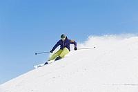 Italy, Trentino_Alto Adige, Alto Adige, Bolzano, Seiser Alm, Mid adult man on ski tour