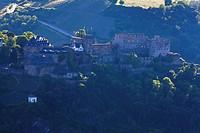 Europe, Germany, Rhineland_Palatinate, View of burg rheinfels castle