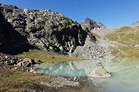 Austria, Tyrol, Kaunertal, Lake Weisssee
