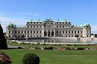 Austria, Vienna, View of upper belvedere castle