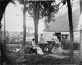 WEST: HOMESTEADERS, 1870.An American family in Wisconsin or Minnesota: photographed c1870.