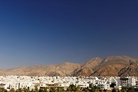 View across the housing in Al Khuwair 33, a suburb of new Muscat, the capital of the sultanate of Oman.
