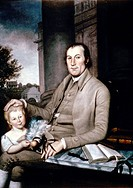 PEALE: SMITH FAMILY, 1788.Charles Willson Peale: Portrait of William Smith and his grandson. Oil on canvas, 1788.