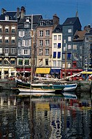 Boats at a harbor, Honfleur, Normandy, France