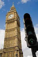 Big Ben, clock tower, The Houses of Parliament, London, England, UK